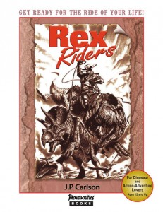 The cover of Rex Riders, a book previewed by io9