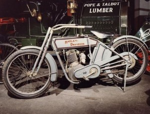 The Smithsonian's 1913 5-hp Harley-Davidson motorcycle is one of four Harleys in the collections of the Smithsonian. Courtesy of NMAH.