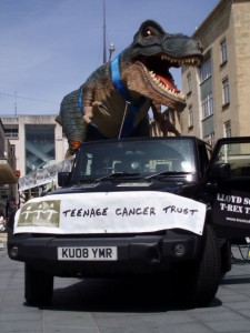 T-Rex Treks Looms Large (Courtesy of Teenage Cancer Trust)