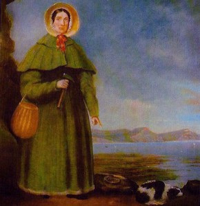 Portrait of Mary Anning (via wikimedia commons)