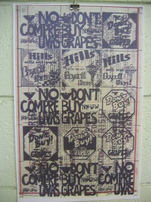 Grape boycott poster. Courtesy of Flickr user Steve_Rhodes