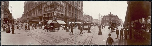 Herald Square circa 1907, when Ida Wood first moved into the Herald Square Hotel. From Wikipedia.