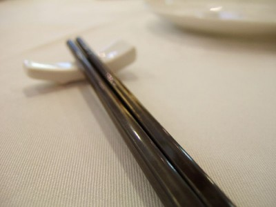 Chopsticks. Courtesy of Flickr user Mr. Wabu