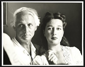 Dorothea Tanning sits with her late husband, Max Ernst. Courtesy of the Smithsonian Archives of American Art.