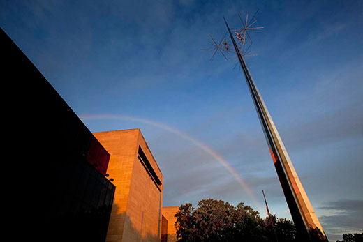Rainbow over Air and Space Museum