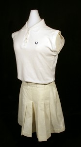Althea Gibson's Tennis Whites worn during the Ladies' Singles Final at Wimbledon in 1957. Courtesy of the National Museum of American History.
