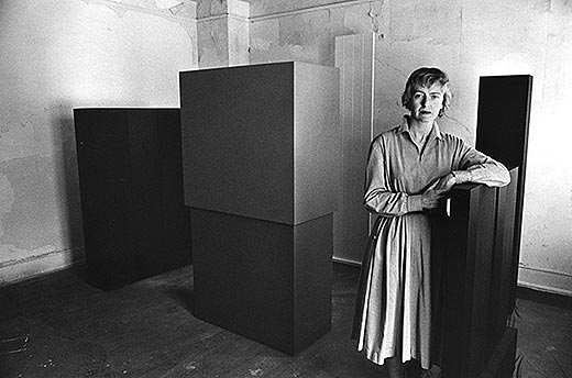 Anne Truitt in her Twining Court studio, Washington, DC, 1962. © John Gossage.