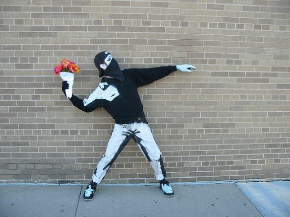 Banksy Flower Thrower Costume