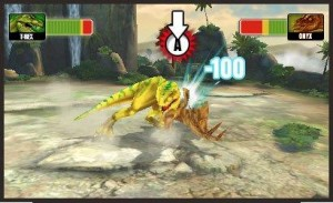 A screenshot from Battle of Giants: Dinosaur Strike. From IGN.