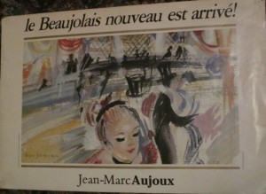 Beaujolais Nouveau Day arrives every third Thursday in November--as do about 65 million bottles of red wine just two months old. Photo by Alastair Bland.