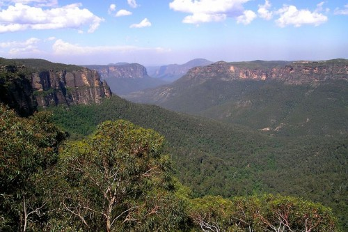 "The Blue Mountains formed an impassable barrier to early settlers in New South Wales. Legends soon grew up of a white colony located somewhere in the range, or past it, ruled over by a ""King of the Mountains."" Not even the first successful passage of the chain, in 1813, killed off this myth."