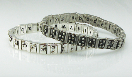 And the People's Design Award winner is...the Braille Alphabet Bracelet. Photo courtesy of the Cooper-Hewitt, National Design Museum.