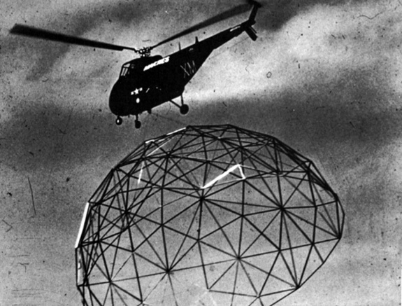 geodesic dome helicopter