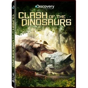 The DVD cover for Clash of the Dinosaurs.