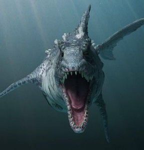 "An early look at the ""Dinoshark"" from SyFy's film of the same name."