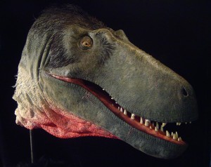 The restored head of Dryptosaurus as created by artist Tyler Keillor.