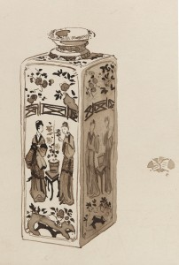 """A Chinese Porcelain Square Canister."" James McNeill Whistler (1834-1903). Image courtesy of the Freer Gallery of Art."