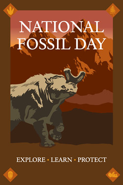The National Fossil Day logo.