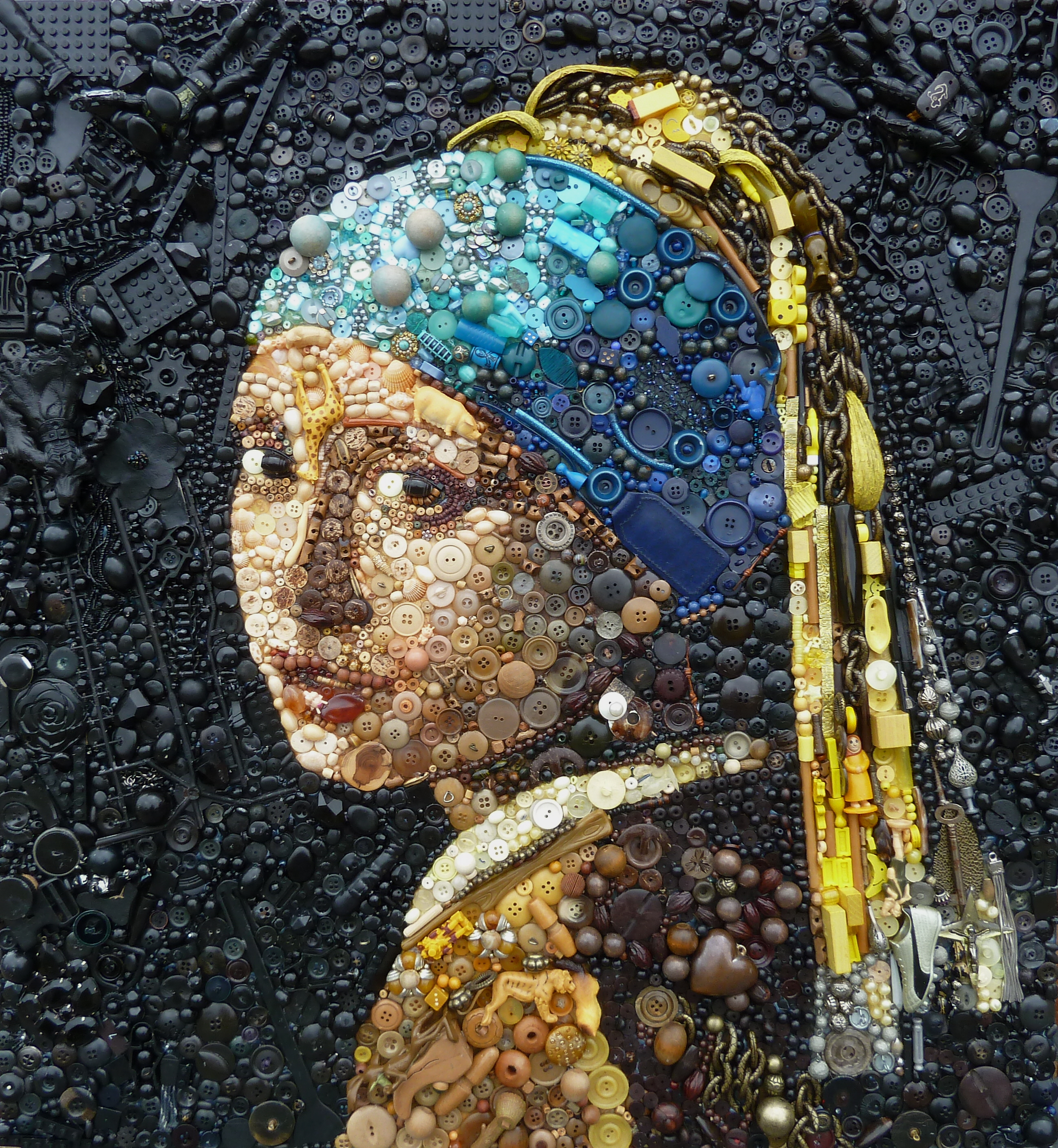 This Artists Recreates Great Works of Art Using Plastic Trinkets ...