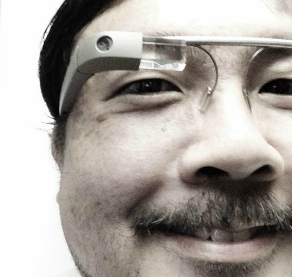google glass and face