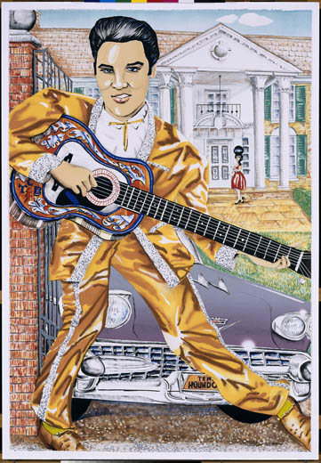 Elvis Presley (1987) by Red Groom. Image courtesy of the National Portrait Gallery.