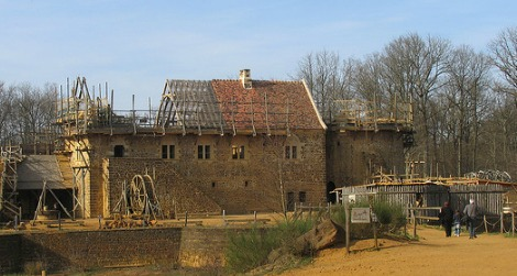 The latter-day medieval castle of Guedelon
