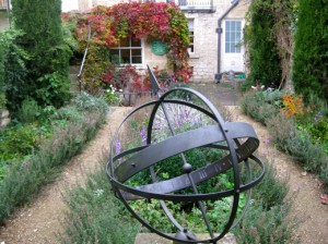 The garden in Bath where William Herschel discovered Uranus (photo by Sarah Zielinski)