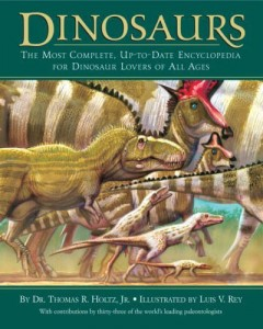Dinosaurs by Thomas Holtz, one of the most up-to-date books about dinosaurs for kids.