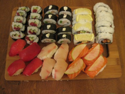The results of our 3-hour sushi experiment.