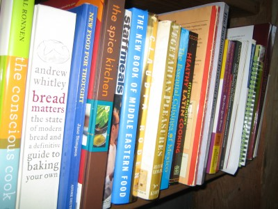 Are all these cookbooks a help or a hindrance? Photograph by Lisa Bramen