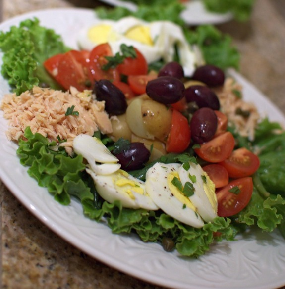 Salade nicoise from Julia Child's Recipe