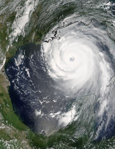 Hurricane Katrina (credit: Jeff Schmaltz, MODIS Rapid Response Team, NASA/GSFC )