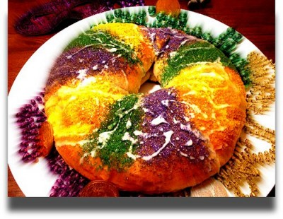 King Cake, courtesy Flickr user The Gifted Photographer