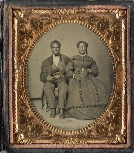 Well-to-do Black Couple, c. 1860, from the Kinsey Collection. Image courtesy of the National Museum of African American History and Culture.