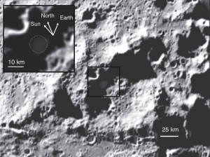 Bullseye on the Moon -- the LCROSS impact site