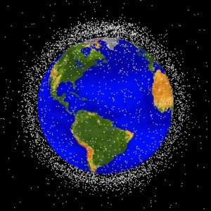Most space junk is in low-Earth orbit (credit: NASA)