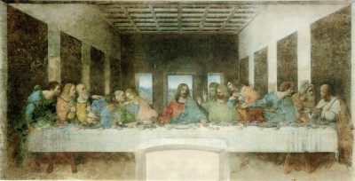 "Da Vinci's ""Last Supper,"" painted circa 1495. Wikimedia Commons image."