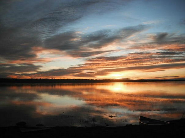 The Mackenzie River near Fort Simpson, Northern Territories, Canada