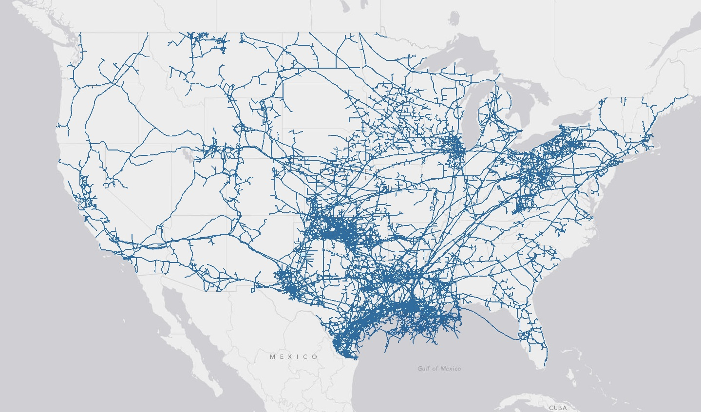 there is a ton of natural gas pipeline