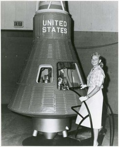 "Jerrie Cobb, one of the ""Mercury 13."" Courtesy NASM."