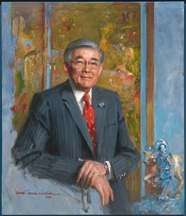 Everett Raymond Kinstler's portrait of Norman K. Mineta is now on display in the National Portrait Gallery