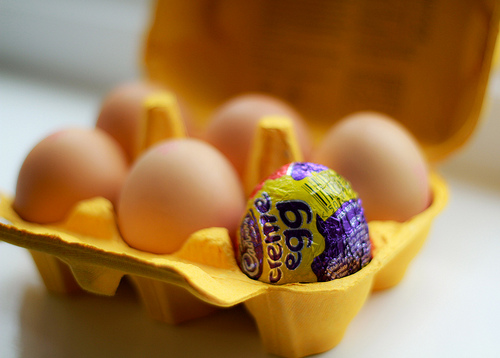 Easter eggs. Image courtesy of Flicker user MrB-MMX.