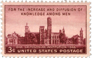 The Smithsonian Castle. Image courtesy of the United States Postal Service. All rights reserved.