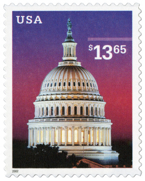 The Capitol. Image courtesy of the United States Postal Service. All rights reserved.