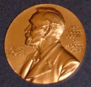 Replica of John Mather's Nobel Prize for Physics. Courtesy NASM.