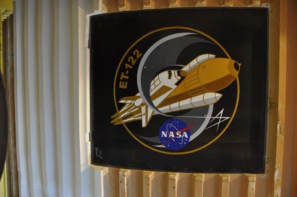 "A closer look at the intertank door: The first and last shuttle ""nose art."""