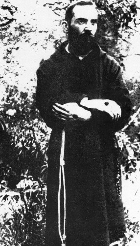 "Padre Pio (1887-1968), an Italian priest and stigmatic, was elevated to sainthood in 2002 as St Pio of Pietrelcino. In the 1940s he heard the confession of the future Pope John Paul II and–John Paul recorded-told him he would one day ascend to ""the highest post in the Church though further confirmation is needed."""