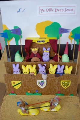 Marshmallow Peeps Diorama made by Sarah Zielinski, Jamie Simon and Amanda Bensen.