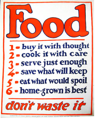 World War I-era poster from the US Food Administration. Special Collections, National Agricultural Library.