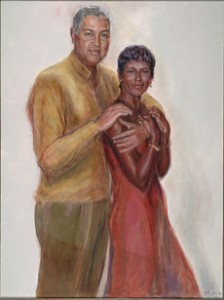 Bernard and Shirley Kinsey also have a portrait of themselves in their collection.